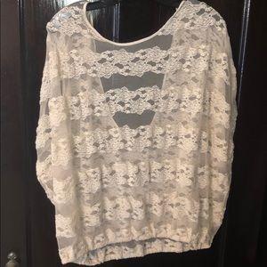 Lace shirt, Free People, L/XL